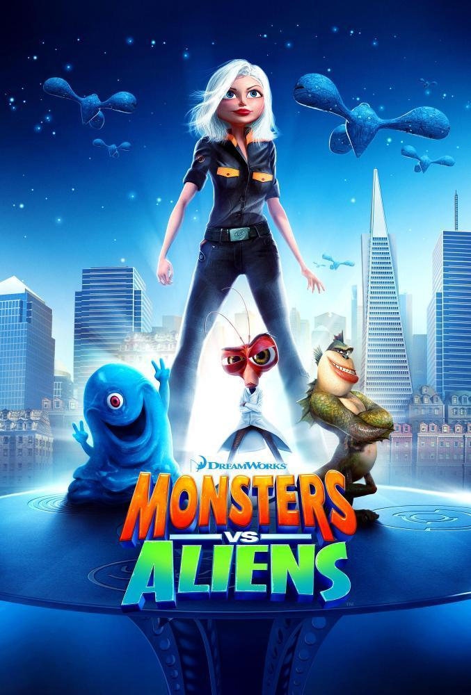 Not much to go on … the Monsters vs Aliens poster.