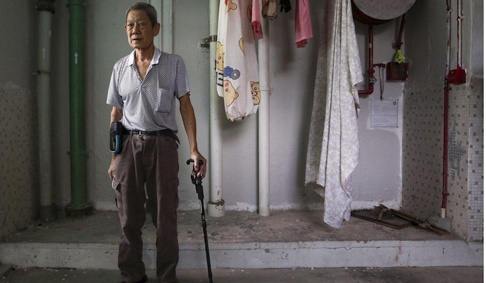 Yeung Tak-wai says he feels constant pain in his thighs, chest and lower back. Photo: Jonathan Wong