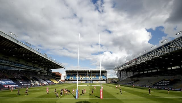 The match between St Helens and Catalans Dragons was the first of a double-header at Headingley