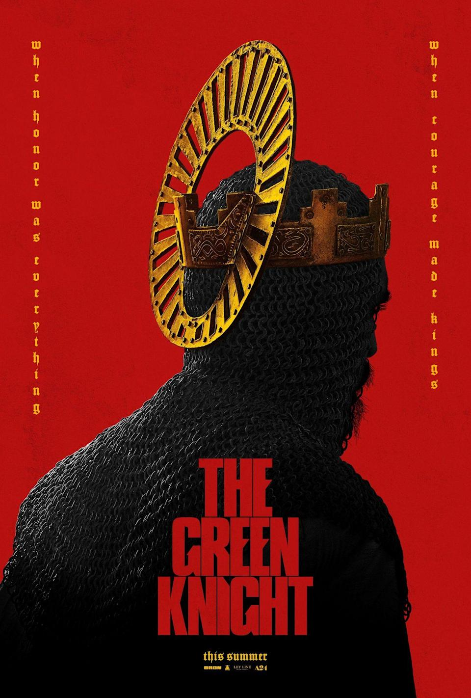 Teaser poster for A24's The Green Knight.