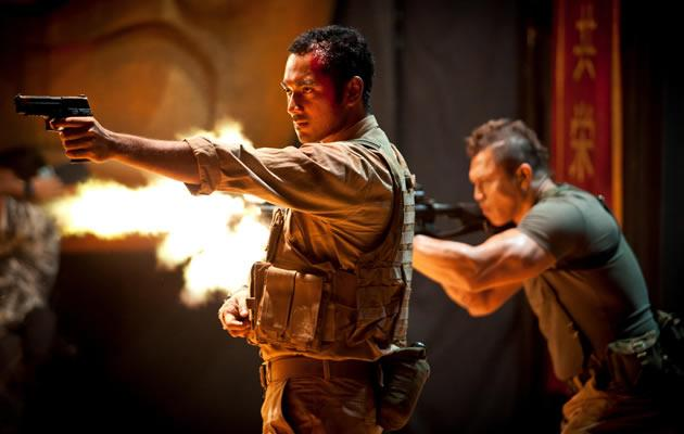 From left: Indonesian actors Ario Bayu and Bang Tigor play soldiers who have been brought onboard for the treasure hunt. (HBO Asia Images)
