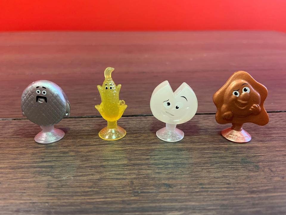 The four rare Stikeez collectables rolled out by Coles.