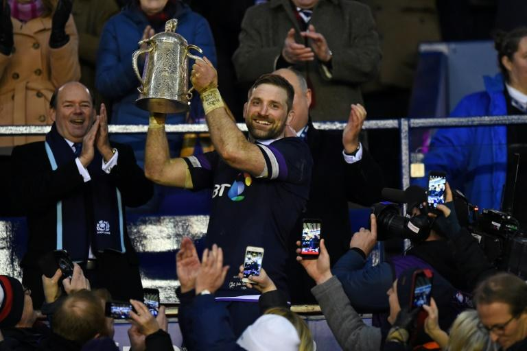 The first half saw Scotland score three tries, remarkable given it was 14 years since they had last crossed England's try-line in a Calcutta Cup clash at Murrayfield