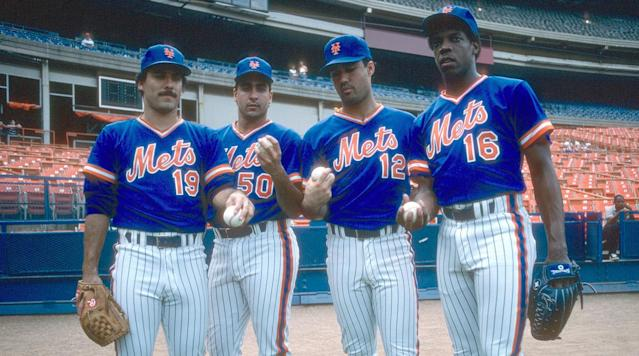 A loaded starting rotation of Bob Ojeda, Sid Fernandez, Ron Darling and Dwight Gooden helped the 1986 Mets dominate the NL East all season long en route to the franchise's most recent World Series title.