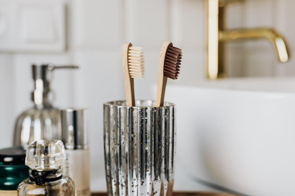 """<p>There are so many single-use products in our homes that can be switched for sustainable ones: toothbrushes, coffee cups, cleaning supplies, paper towels, food bags, water bottles, dryer sheets, and <em>much</em> more. While we're not saying to throw these products out right away, households can slowly replace them with <a href=""""https://www.popsugar.com/smart-living/reusable-products-to-reduce-waste-48253199"""" class=""""link rapid-noclick-resp"""" rel=""""nofollow noopener"""" target=""""_blank"""" data-ylk=""""slk:eco-friendly swaps"""">eco-friendly swaps</a> once they go bad.</p>"""