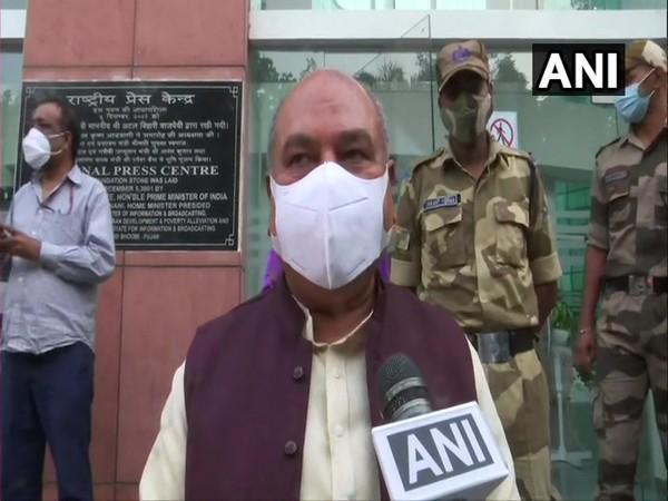 Union Agriculture Minister Narendra Singh Tomar speaking to ANI