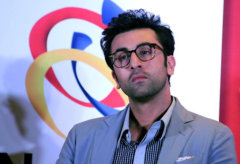Ranbir Kapoor at a promotional event in Mumbai. Photo: STRDEL/AFP via Getty Images