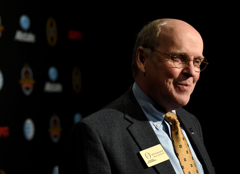 CFP executive director Bill Hancock attends the ESPN College Football Playoffs Night of Champions in 2015 in Dallas.
