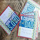 "<p>Take some chores off Dad's plate with this DIY coupon book. Offer Dad everything from ""taking out the trash"" to ""giving a hug"" when he needs it. </p><p><em>Get the printable at <a href=""https://www.ishouldbemoppingthefloor.com/2013/05/fridays-freebie-printable-fathers-day.html"" rel=""nofollow noopener"" target=""_blank"" data-ylk=""slk:I Should Be Mopping the Floor"" class=""link rapid-noclick-resp"">I Should Be Mopping the Floor</a>.</em></p>"