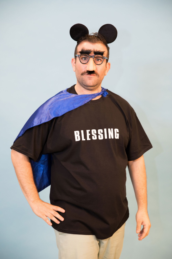 """<p>Grab some of your kid's dress-up gear and throw it on top of a t-shirt that says """"blessing"""" for this funny costume. </p><p><a class=""""link rapid-noclick-resp"""" href=""""https://www.amazon.com/Everfan-Mens-Polyester-Satin-Superhero/dp/B00EE6ZHLI?tag=syn-yahoo-20&ascsubtag=%5Bartid%7C10070.g.490%5Bsrc%7Cyahoo-us"""" rel=""""nofollow noopener"""" target=""""_blank"""" data-ylk=""""slk:SHOP CAPES"""">SHOP CAPES</a> </p>"""