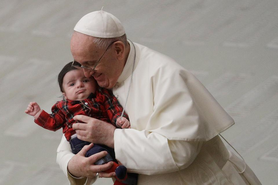 <p>Pope Francis received his Covid-19 jab on Thursday</p> (AP)