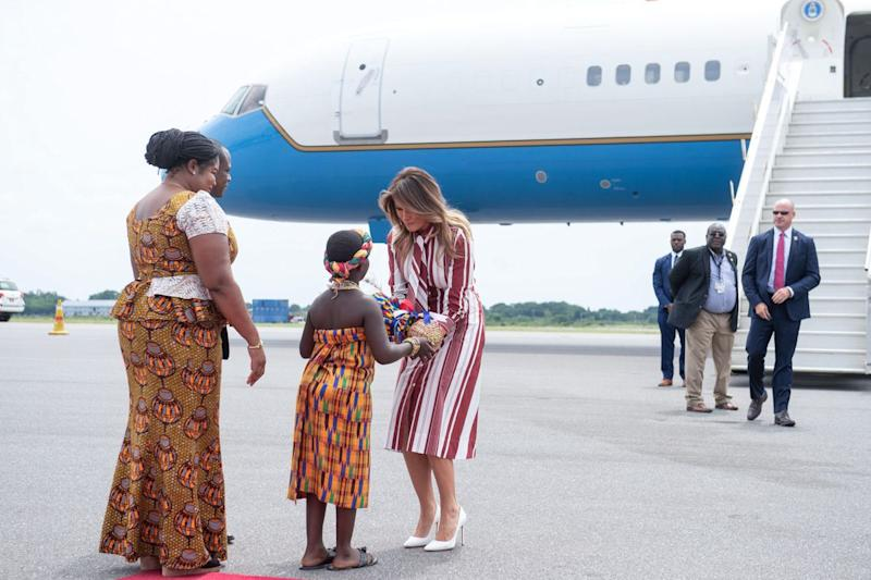 Image result for melania trump in africa