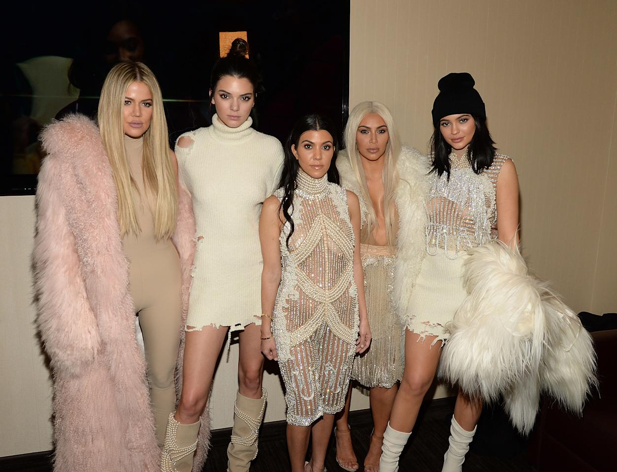 <p>Kourtney, born 1979 is the oldest Kardashian-Jenner sibling, followed by Kim, who was born in 1980. Khloe was born in 1984 and brother Rob in 1987. Kendall and Kylie, the Kardashians' half-sisters, were born in 1995 and 1997. <em>[Photo: Getty]</em> </p>
