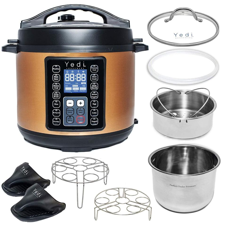 <p>If you're trying to save time cooking dinner, invest in this <span>Yedi Total Package 9-in-1 Instant Programmable Pressure Cooker</span> ($100). Simply prep your meals and wait for it to be ready.</p>