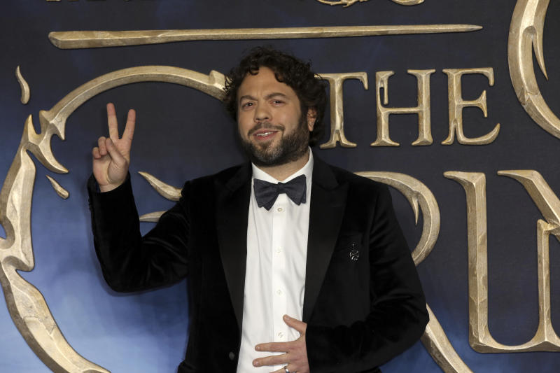 Actor Dan Fogler poses for photographers on arrival at the premiere of the film 'Fantastic Beasts: The Crimes of Grindelwald', in London, Tuesday, Nov. 13, 2018. (Photo by Grant Pollard/Invision/AP)