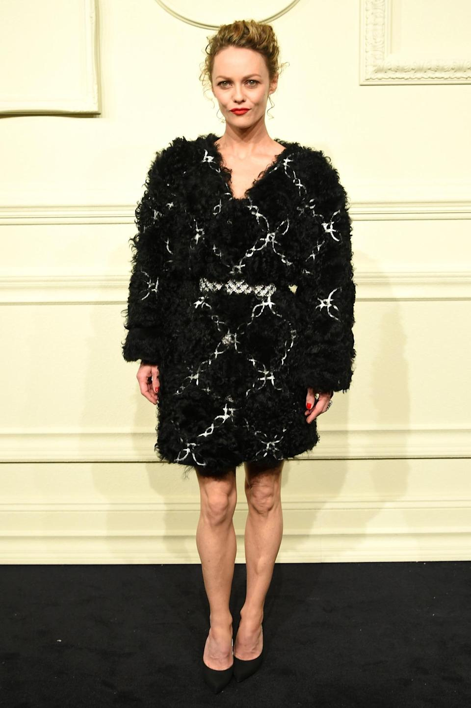 """<p>Vanessa Paradis attends the CHANEL Paris-Salzburg 2014/15 Metiers d'Art Collection</p><p>Vanessa Paradis has been modeling for Chanel since 1991, but Tuesday night marked her family's first fashion outing. She brought daughter Lily-Rose Depp and son Jack to the brand's Paris-Salzburg 2014/15 Metiers d'Art Collection in New York. Of the city, she said, """"<span>I lived here a long time ago and each time I'm back it just fills my heart with sparkles. I love it. It's really awesome."""" </span></p>"""