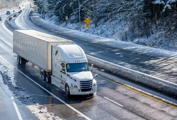 Truck drivers are feeling the blame, once again, as Newfoundland and Labrador grapples with the recent outbreak of COVID-19.  (Shutterstock - image credit)
