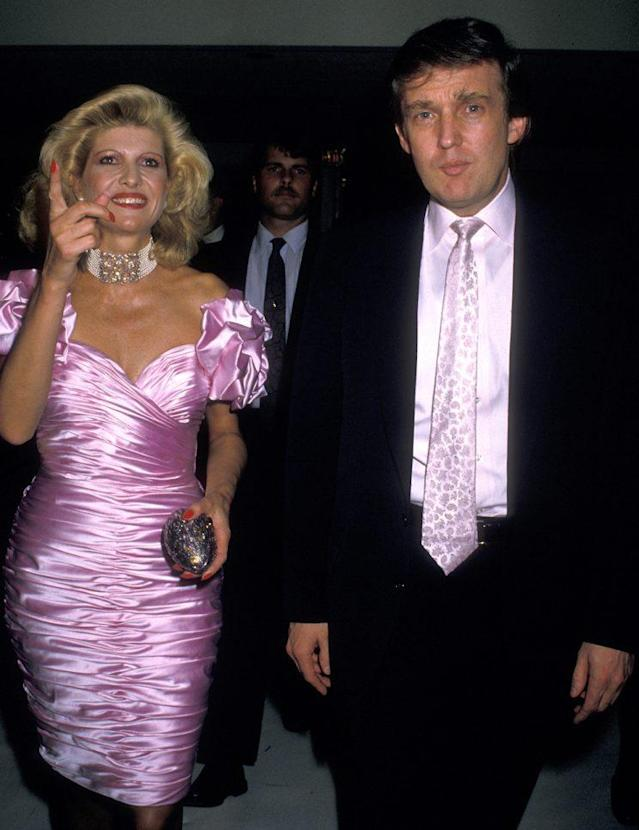 Ivana Trump and Donald Trump attend his 42nd birthday party in 1988. (Photo by Ron Galella/WireImage)