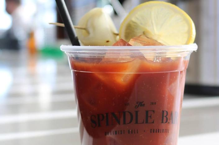 You can build your own Bloody Mary with help from the staff at Spindle Bar to complete your Sunday brunch.