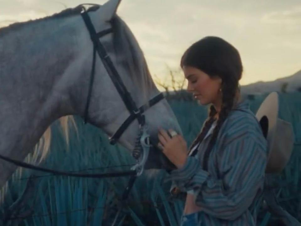 Kendall Jenner in the 818 Tequila ad.