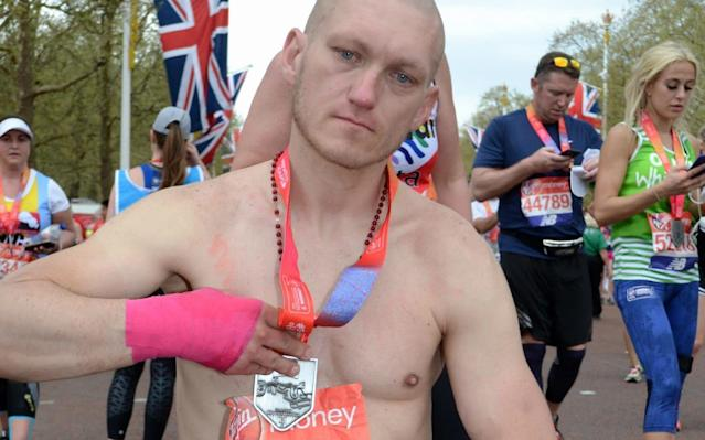 Homeless London Marathon impostor who dedicated 'finishing' race to his son is jailed for swiping vest number