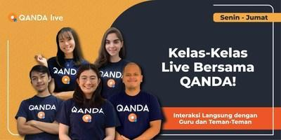 QANDA Live Class was launched in response to the shift in learning method for Indonesian students.