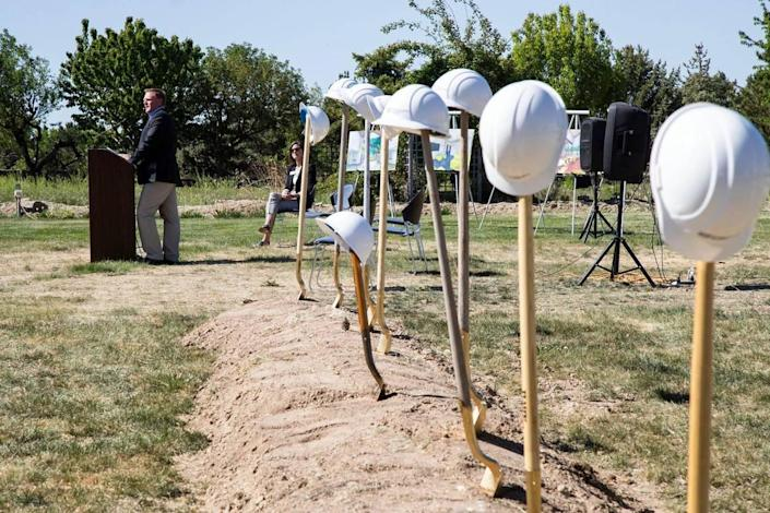 The Idaho Youth Ranch is starting to build a$20 million residential center for at-risk youth on a former tree farm northwest of Middleton in Caldwell. CEO Scott Curtis on Thursday thanked the people and organizations that helped raise money.