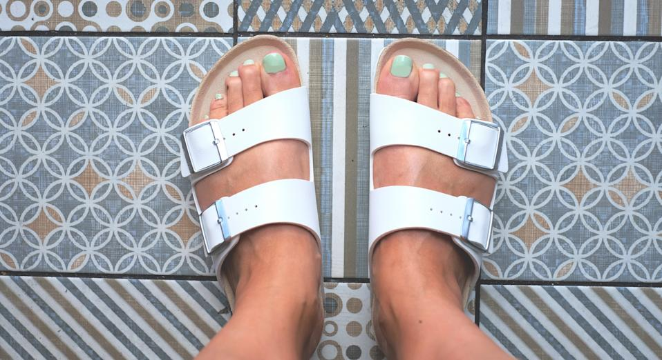 Increasing numbers have been treating themselves to the famously comfy summer shoe since March (Getty Images)