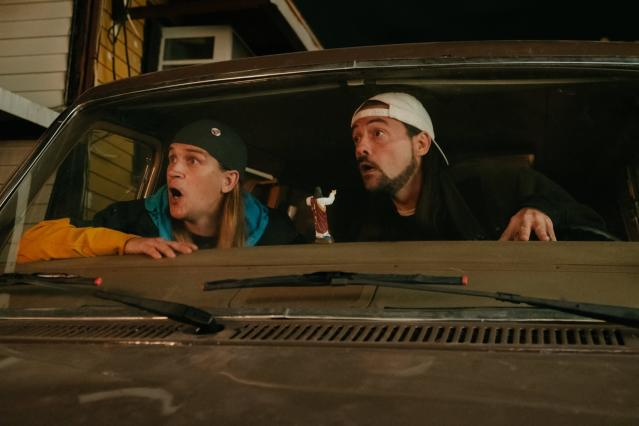 Jason Mewes and Kevin Smith in <em>Jay and Silent Bob Reboot</em>. (Universal Pictures)