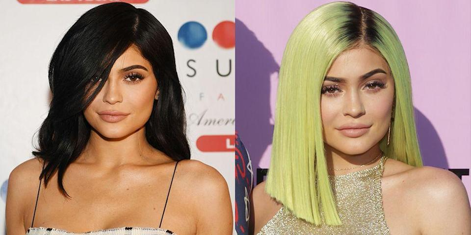 <p>Kylie stepped out with lime green hair following her split from Tyga. Sure, it was a wig, but it was also a statement. </p>