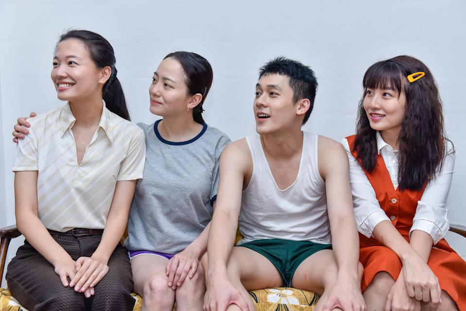 The cast of director Jack Neo's The Diam Diam Era movies: (left to right) Regina Lin, Meixin Macy, Richie Koh, and Yap Hui Xin. (Photo courtesy of Netflix)