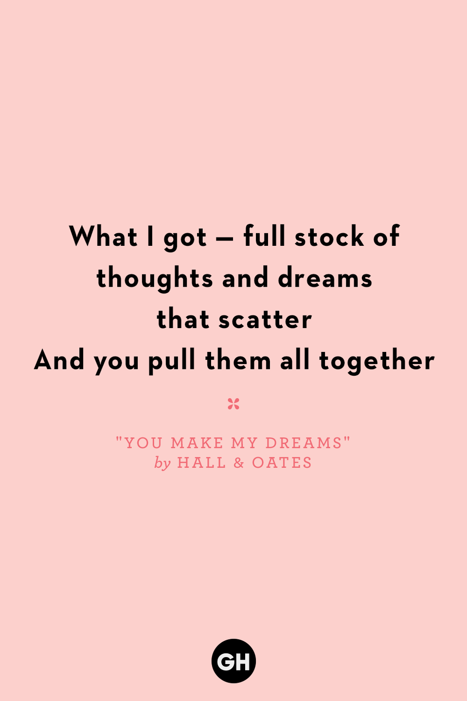 <p>What I got — full stock of thoughts and dreams that scatter</p><p>And you pull them all together</p>