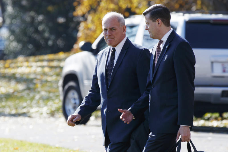John Kelly, left, with Rob Porter