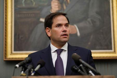 FILE PHOTO: Sen. Marco Rubio (R-FL) speaks at a press conference at the Capitol Building in Washington, U.S., September 26, 2017. REUTERS/Aaron P. Bernstein