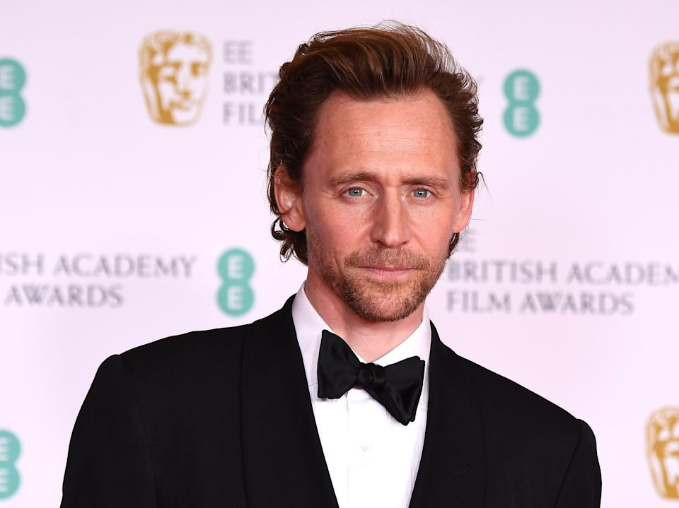 Tom Hiddleston photographed at the Baftas 2021 (Getty Images)