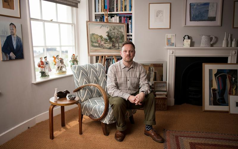 Simon Martin, director of Pallant House Gallery, at home this month - Christopher Pledger for DT