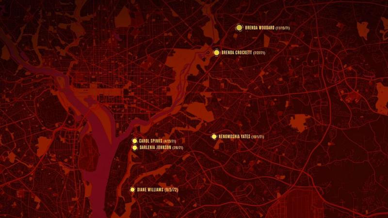 Locations where the Freeway Phantom's victims' bodies were found | Investigation Discovery
