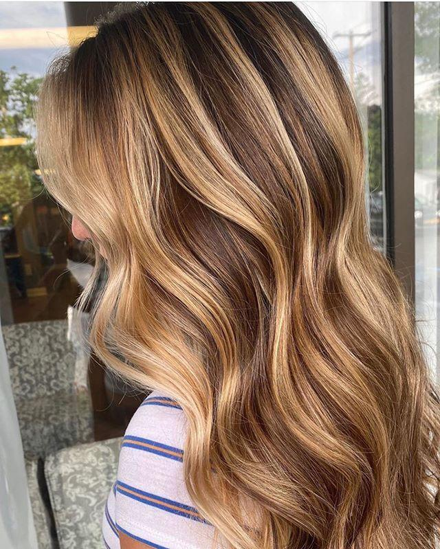 """<p>A mix of highlights and lowlights gives the most natural, silken finish and helps keep your roots growing out a little more naturally.</p><p><a href=""""https://www.instagram.com/p/CCJdEc-nyjU/?utm_source=ig_embed&utm_campaign=loading"""" rel=""""nofollow noopener"""" target=""""_blank"""" data-ylk=""""slk:See the original post on Instagram"""" class=""""link rapid-noclick-resp"""">See the original post on Instagram</a></p>"""