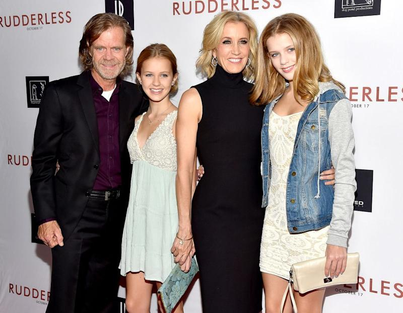 William H. Macy, Georgia Macy, Felicity Huffman, Sofia Macy