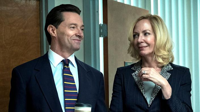 """Hugh Jackman and Allison Janney star in HBO's 'Bad Education'. <span class=""""copyright"""">HBO</span>"""