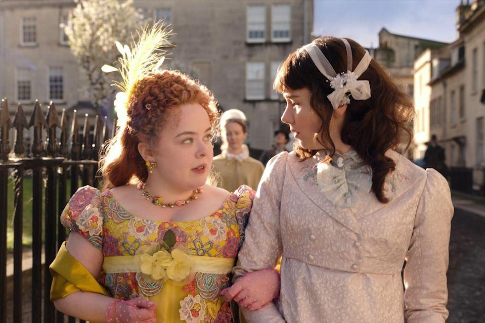 <p>Penelope and Eloise make for slightly unlikely friends, and the contrast in their family backgrounds is evident in their wardrobes.</p>
