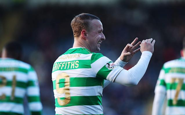"""Celtic posted a double-figure points lead over Aberdeen – whose game in hand is at home to Partick Thistle tomorrow – with this comfortable victory over Dundee at Dens Park and goals from James Forrest and Leigh Griffiths on an afternoon that would have been significantly more damaging for the home team had the champions taken their chances during an early period of overwhelming domination. Since losing their long unbeaten record under Brendan Rodgers to Hearts at Tynecastle, Celtic have posted three successive wins, as the manager rotates his squad. For this fixture, Moussa Dembele and Stuart Armstrong dropped to the bench and Scott Sinclair was granted an afternoon's rest against a Dundee side unchanged from their 1-1 weekend draw with Motherwell. Dembele was the subject of reports which claimed him to be a January target for Brighton but Rodgers remarked of the speculation about the French striker that there was """"nothing at all"""" in it, although, when asked if the player would still be a Celtic employee by the end of next month, added: """"I can't say that."""" What could be stated without contradiction by the midway stage of the contest was that the first half must have seemed close to interminable for Dundee. By the quarter-hour mark Celtic had a near monopoly of possession – no less than 85 per cent, in fact – and their relentless pressing game had seen them take the lead when a typically dangerous thrust and cutback from Kieran Tierney set Forrest up for a simple strike to take his striking total for the club to 50 goals. Even before the opener, Callum McGregor had rifled a shot off the post and Celtic's unremitting pressure saw them produce 13 attempts on and off the target by the break, compared to Dundee's grand total of zero. The surprise by that stage of the proceedings was that Celtic were only 2-0 to the good and that their second goal arrived as late as the 42nd minute when Olivier Ntcham provided a pass for Griffiths, so well judged that the striker did not"""