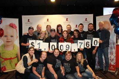 iHeartMedia station K102 Minneapolis raised more than $1 million during its K102 Cares for St. Jude Kids Radiothon on Dec. 12-13. (Credit:K102 Minneapolis)