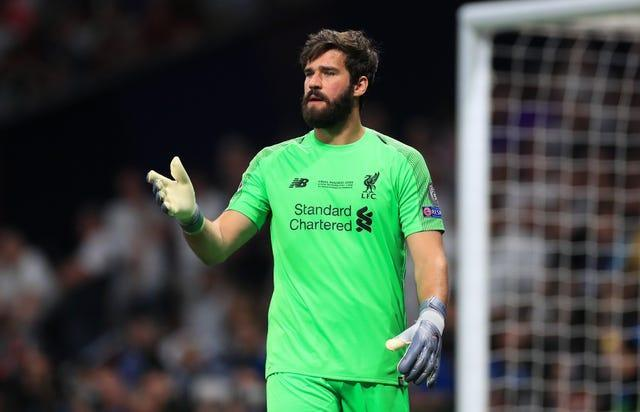 Liverpool's number one Alisson Becker has limited Caoimhin Kelleher's chances to prove himself