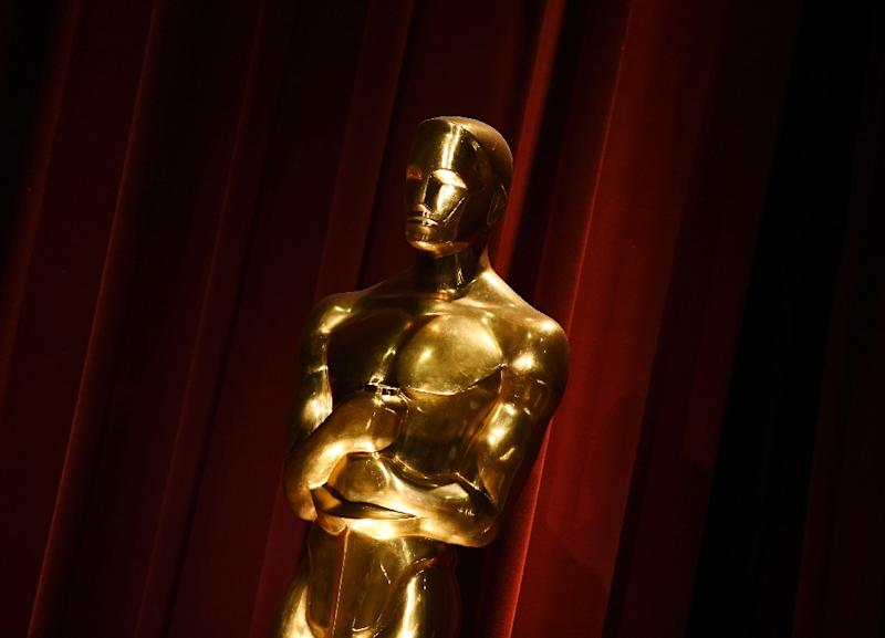 An Oscar statue is on display during the Academy Awards Nominations Announcement at the Samuel Goldwyn Theater in Beverly Hills, California on January 14, 2016. (AFP Photo/MARK RALSTON)