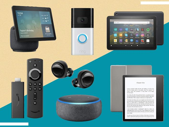 The Kindle, Ring doorbell, Echo dot and Fire tablet have all seen huge discounts (The Independent)