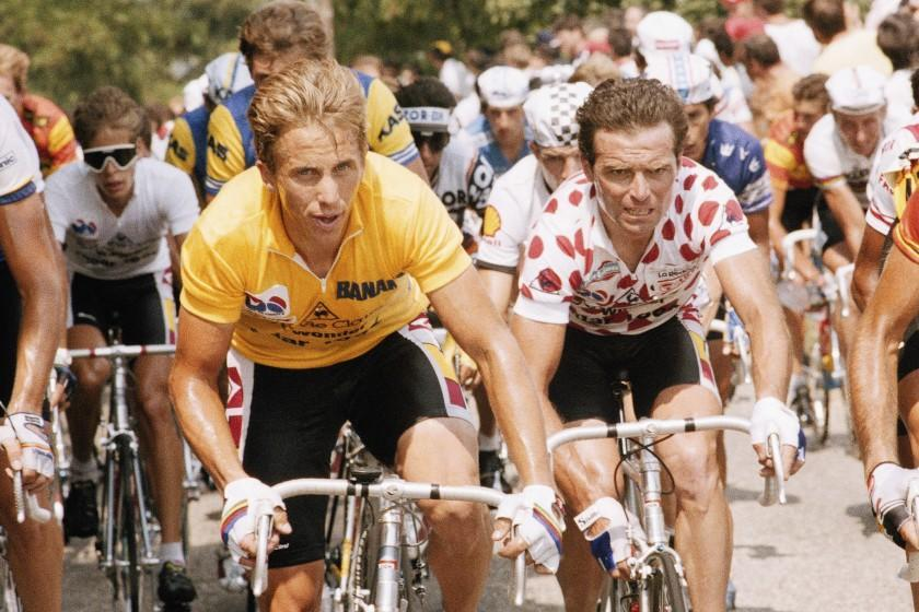 "American cyclist Greg LeMond competing in the 1986 Tour de France. <span class=""copyright"">(Lionel Cironneau / Associated Press)</span>"