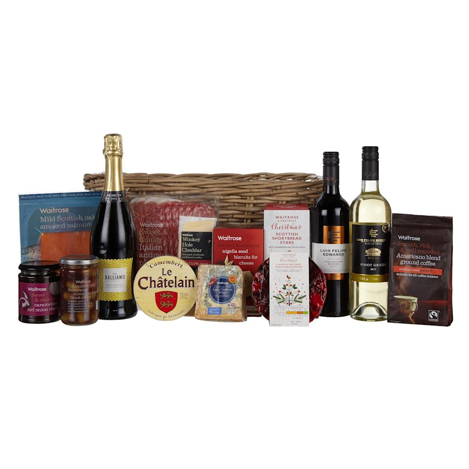 You can purchase a hamper this Christmas from your local supermarket [Photo: Waitrose & Partners]