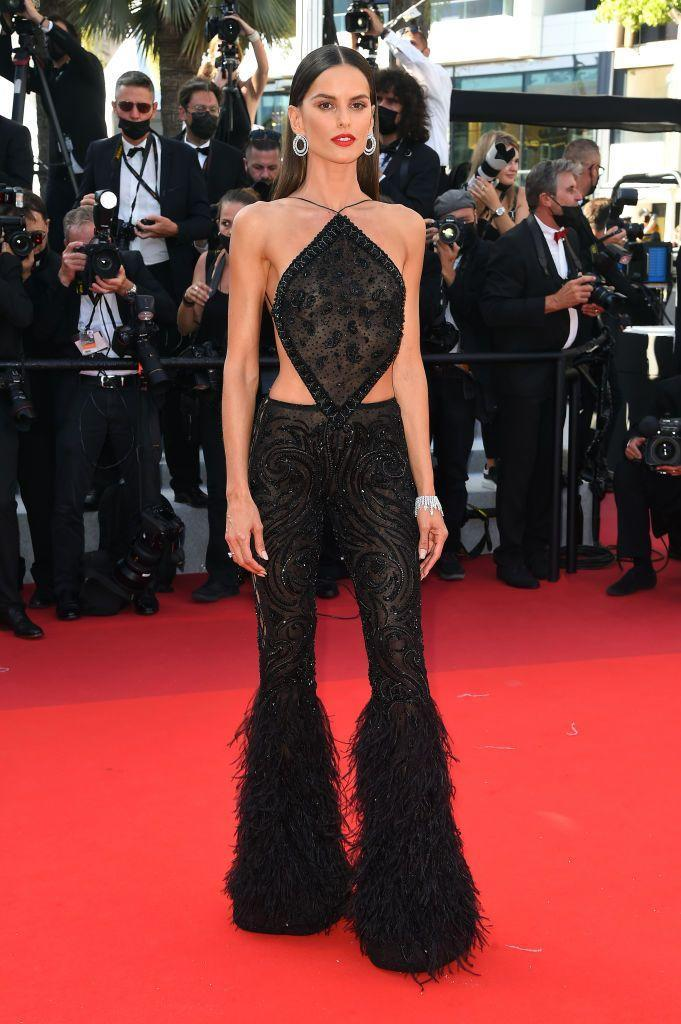 <p>The model wore an Etro jumpsuit to the the 'Stillwater' screening.</p>