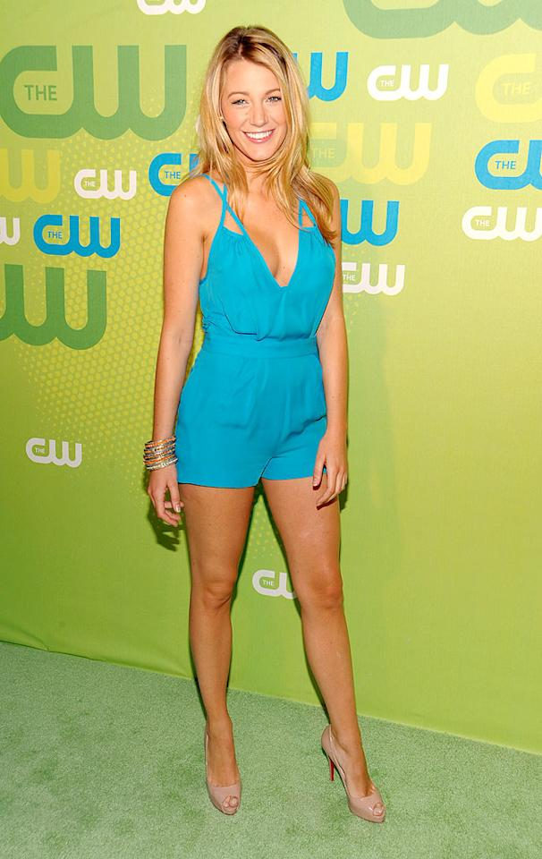 """May: Blake Lively   The """"Gossip Girl"""" hottie put her gorgeous gams on display in nude peep toes and a silk double-strap playsuit, courtesy of ADAM, at an NYC-based CW soiree. Dimitrios Kambouris/<a href=""""http://www.wireimage.com"""" target=""""new"""">WireImage.com</a> - May 21, 2009"""